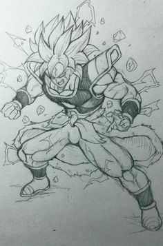 Dbz Drawings, Easy Drawings, Broly Ssj4, Dragonball Evolution, Ball Drawing, Anime Sketch, Character Drawing, Art Reference, Sketches
