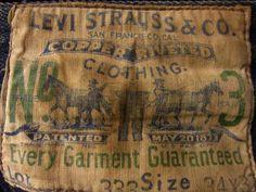 Levi Strauss Lot 333, c.1910's