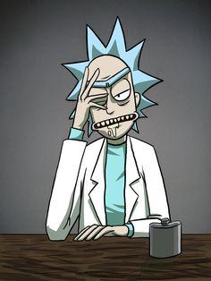 《Rick and Morty / Rick Sanchez》 Rick Sanchez Quotes, Rick And Morty Tattoo, Rick I Morty, Ricky And Morty, Rick And Morty Poster, Adult Cartoons, Animation, Cartoon Games, Fan Art