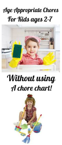 List of chores by age and how to SIMPLY organize them w/o a chore chart.   (easy for kids & parents)
