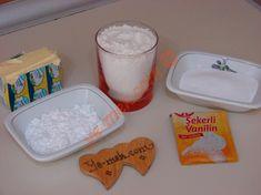 Pastane Usulü Un Kurabiyesi İçin Gerekli Malzemeler Diy And Crafts, Desserts, Recipes, Bakken, Tailgate Desserts, Deserts, Postres, Dessert, Plated Desserts