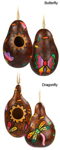 Peruvian Pastures Painted Gourd Birdhouse at The Rainforest Site. If you click at the site you can make a free donation... these are for purchase.  Love them!