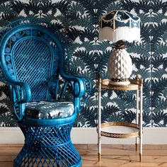I've seen a million of these peacock chairs in thrift shops and garage sales. Look how great it looks painted! {House of Hackney}