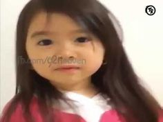 This cute little girl want say something to you... listen once