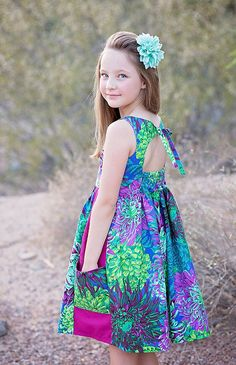 Introducing {June} : The Quintessential Summer Dress - Violette Field Threads Little Girl Dresses, Girls Dresses, Flower Girl Dresses, Summer Dresses, Doll Dresses, Baby Dresses, Summer Clothes, Kids Frocks Design, Make Your Own Clothes