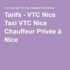 Tarifs - VTC Nice Taxi VTC Nice Chauffeur Privée à Nice