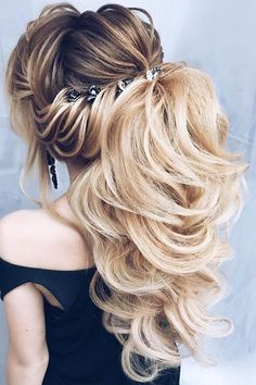 Bridal Hairstyles : 24 Party Perfect Pony Tail Hairstyles For Your Big Day pony tail hairstyles