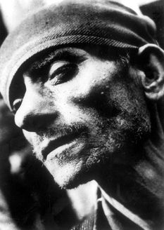 Dachau, Germany, Portrait of an ex-prisoner after the liberation, 1945.