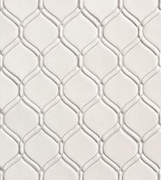 Walker Zanger Ceramic Ottoman Mosaic White Gloss