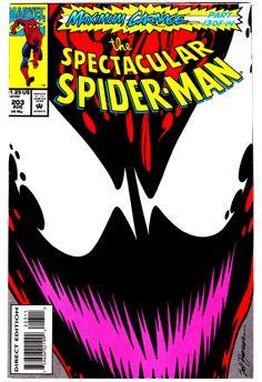 The Spectacular Spider-Man (Marvel Comics, - Maximum Carnage, part 13 of 14 Marvel Comic Books, Comic Book Characters, Marvel Characters, Comic Character, Comic Books Art, Comic Art, Book Cover Art, Comic Book Covers, Maximum Carnage
