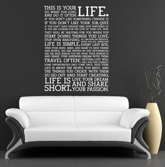Design with Vinyl RE 3 C 2012 Get Naked Quote Vinyl Wall Decal Sticker 20 x 40