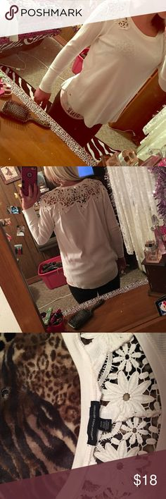 💃Laced American Eagle Long Sleeve💃 Super Cute & Very warm. The Lace is just to die for! I just have wayyy to much stuff 😂 Not One Mark, Stain Flaw Nothing! Just a Gorgeous Shirt! 💕💕 American Eagle Outfitters Tops Tees - Long Sleeve