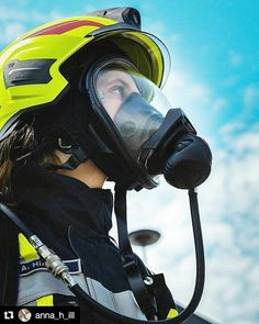 Female Firefighter, Gas Masks, Respirator Mask, Mask Girl, Full Face Mask, Mask Design, Safety, Fashion Design, Community