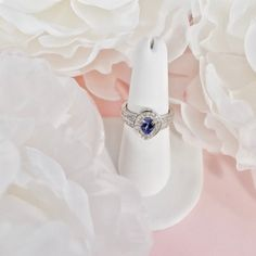 Tanzanite, Zircon Ring in Platinum Over Sterling Silver (Size ctw Solitaire Earrings, Cluster Earrings, Jewelry Sets, Jewelry Bracelets, Bridal Jewelry, Silver Jewelry, Gemstone List, Tanzanite Jewelry, Gemstones