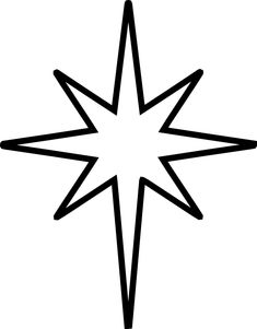 christmas star clip art black and white | The Nativity Star is the symbol of the Star of Bethlehem or Epiphany ...