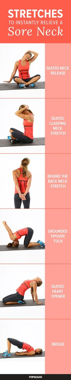 Woke up with a sore neck? Try these stretches to get some relief.
