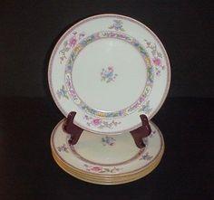 Royal Doulton Orient Dinner Plates Antique C.1902 Set 5 Lion Crown Mark #RoyalDoulton
