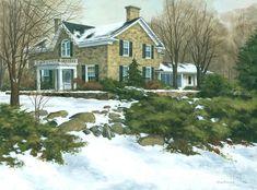 Michael Swanson - Winters Retreat  30 X 40 Painting