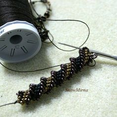 Bead Crochet with O-beads by Alexandra Lysenko - no tute but just substitute in those new O beads or old lentils or.....  #Seed #Bead #Tutorials
