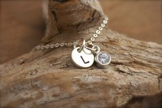 STERLING SILVER  INITIAL Necklace by Cheydrea - 2/3 DAY SHIPPING.  Still plenty of time for Christmas. https://www.etsy.com/listing/208136880/sterling-silver-initial-necklace