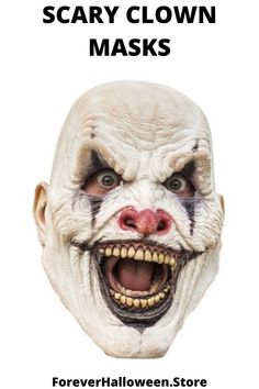 Evil Clown Mouth Piece Mask Vinyl Latex White Joker Vampire Fangs Scary