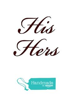 His Hers - Wall Decal - Choose Color Bathroom Decals, Wall Decals, Amazon, Handmade, Color, Amazons, Hand Made, Wall Stickers, Riding Habit