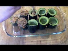 Calabacines rellenos de carne. Recetas - recipes - food