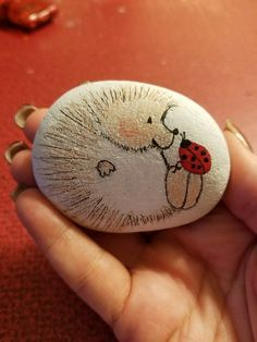 Hedgehog Rock #DIY #easy #rock #paint #ideas #art #kids