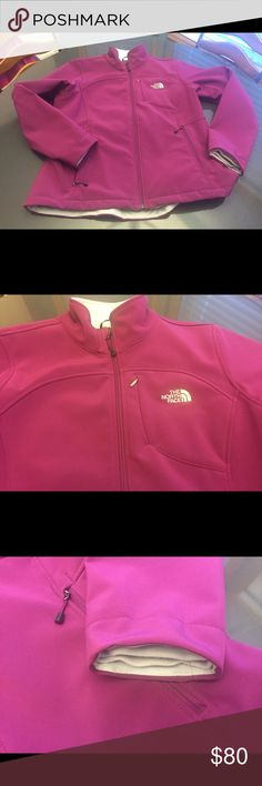 Jacket North face raspberry colored polar fleece jacket.  Perfect for fall. In great condition Northface Jackets & Coats