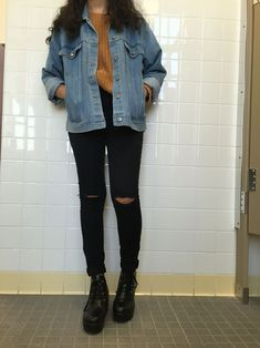 Trendy How To Wear Fall Outfits Jean Jackets 32 Ideas jacket Outfits Trendy How To Wear Fall Outfits Jean Jackets 32 Ideas Tumblr Outfits, Mode Outfits, Edgy Outfits, Fashion Outfits, Hipster Fall Outfits, Grunge Winter Outfits, 80s Style Outfits, Cute Grunge Outfits, Fashion Trends