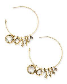 Alyssa Charm Hoop Earrings - Kendra Scott Jewelry.