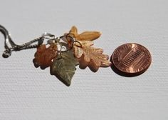 "Teeny Tiny Shrinky Dink ""Leaves"" Necklace tutorial."