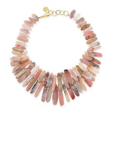 Pink+Opal+Point+Hand-Knotted+Necklace+by+Nest+at+Neiman+Marcus.