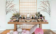 Prepare for panda cuteness, because these panda party ideas will knock your socks off! We are totally loving this new party trend! Panda Birthday Party, Panda Party, 1st Birthday Parties, Birthday Stuff, Birthday Ideas, Cherry Blossom Party, Panda Baby Showers, Flower Arrangement Designs, Panda Love