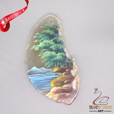 HAND PAINTED SCENERY GEMSTONE STONE NECKLACE PENDANT BEAD D1703 1753 #ZL #PENDANT