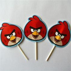 Toper Angry Birds - Artículos de Fiesta Utilizamos para decorar cupcakes, el pastel de cumpleaños, los platos de la comida o incluso puedes hacer un centro de mesa.
