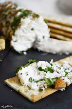 Toasted Almond + Basil Goat Cheese