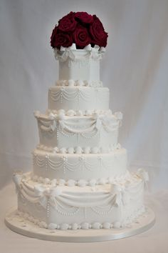 Wedding Cake gallery including Victorian and Vintage Cakes Hall of Cakes Wedding Cake Base, Wedding Cake Fresh Flowers, White Wedding Cakes, Elegant Wedding Cakes, Beautiful Wedding Cakes, Gorgeous Cakes, Trendy Wedding, Dream Wedding, Wedding Ideas