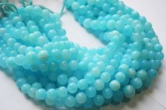 Blue Peruvian Opal Round Beads Smooth Round 11 to by GauravExports, $35.00