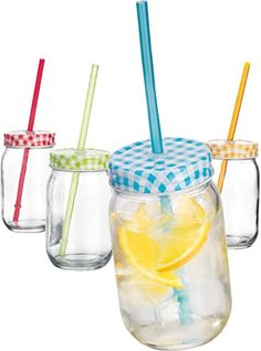 3D Vintage Blue Mason Cup with Lid /& Straw Mason Glass Drinking Jars Cocktails and Smoothies 17oz