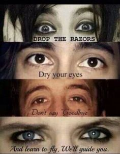 Ik the second one is vic fuentes from pierce the veil and that last one is Andrew from bvb sooooo....... yeah