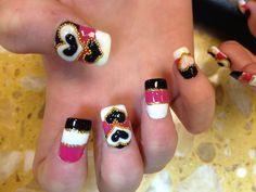 3D nails art#3D hearts#Valentine nails art @ Ocean Nails & Spa. FWB, Fl.