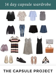 14 day hot weather Capsule Wardrobe using only 18 pieces