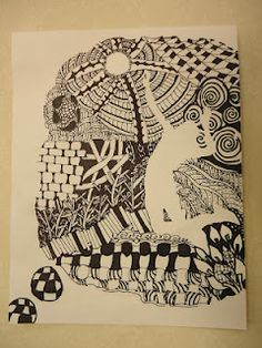 negative space zentangles-AWESOME!