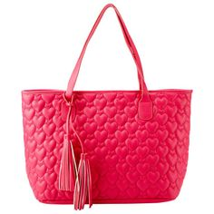 Quilted Hearts Tote Pink   chapters.indigo.ca
