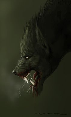 Snarling Werewolf by WavingMonsterStudios