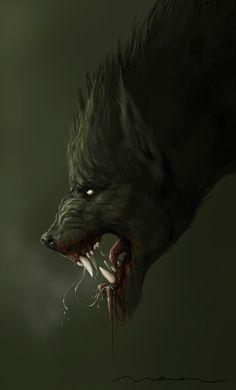 Snarling Werewolf by WavingMonsterStudios