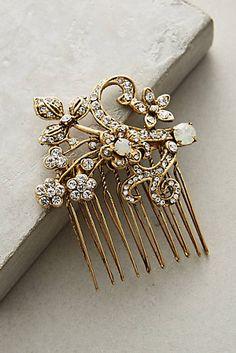 e47b2e6811c Golden Garland Comb Bridal Headdress, Hair Comb, Hair Jewelry, Boho  Wedding, Artisan