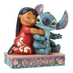 4043643 Ohana Means Family (Lilo & Stitch)- Lilo and Stitch come together in an exemplary display of Ohana which means family #disney #jimshore #enesco