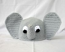 Ravelry: Baby and toddler elephant hat 6-36 month sizes pattern by Alaina Smith